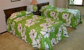 Vintage Designer Twin Bedspreads by Vera Neumann