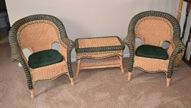 Wicker Porch Chairs and Table