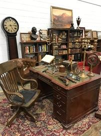 These Items to be Sold in Estate Sale Thu, 7.13 to Sat, 7.15 6  Pistols, Candlesticks, Books Stands, Desk Items