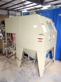 Limco Model #Pulsar VI-P, Pressure Blast Cabinet With Reclaimer Unit, Self Cleaning, New Hoses, Several New Valves, New Filter