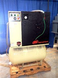 Ingersol Rand Rotary Screw Compressor Model #UP6-15C-125, 15HP