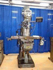 Bridgeport Milling Machine, Model #125292, Newer Variable Speed Drive, Digital Read Out