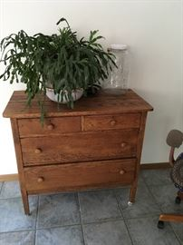 Antique oak dresser.