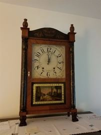 Riley Whiting Reverse Painted Clock