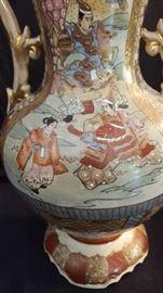 Japanese Satsuma Moriagi Style Vases