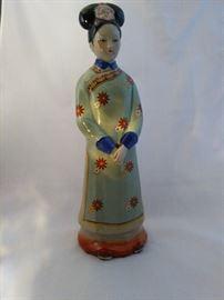 Chinese Ceramic Figurines Statues Elegant Woman