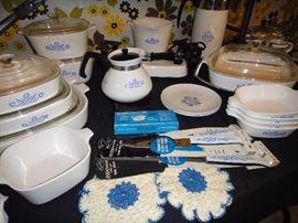Cornflower corning ware