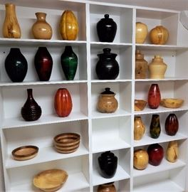 Woodturned bowls and Vases All Shapes and Sizes Signed and Dated By Canadian Artist Dr. Bruce Forrest