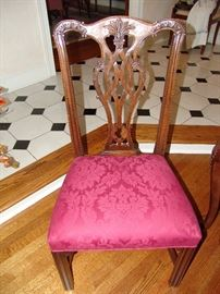 Set of 4 Chippendale chairs