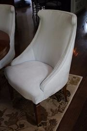 6 Ultra Suede, High Back, Contemporary Chairs