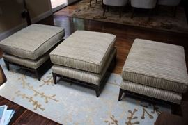 Three Upholstered Seating Stools