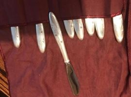 Sterling Knives from Set of Sterling Flatware