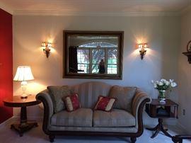 Kincaid Sofa; Large Wall Mirror