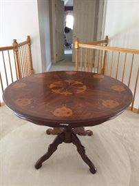 "Italian Round Table with Decorative Top - 47"" diameter"
