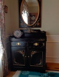 Ethan Allen side bar with mirror