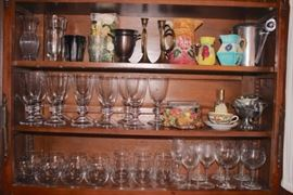 Stemware & Glassware with Assorted Decorative