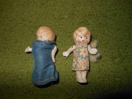 Bisque tiny dolls