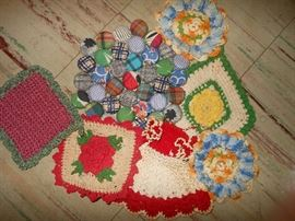 Hand crafted pot holders