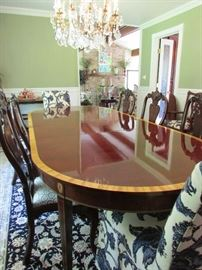 Oh My! It's Stickley Table with 10 chairs
