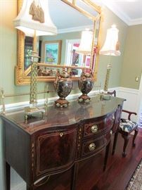 Yes we love the Stickley Buffet....but the lamps are amazing & look at that mirror
