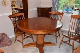 Vintage Tell City Pedestal Table