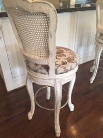 2 Antique Swivel bar stools