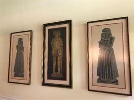 Some of the framed art