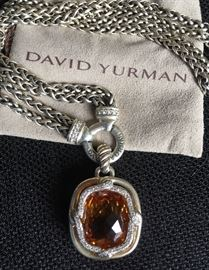 David Yurman Citrine and Diamond Pendant
