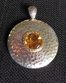 John Hardy Gold and Sterling Pendant