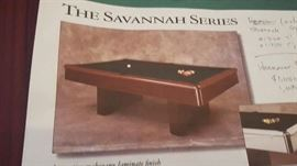 Pool table with accessories  $250 00