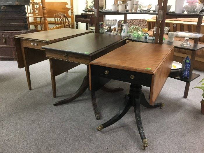 Drop leaf and other side tables