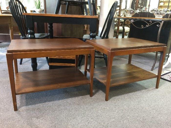 2 Lane mid-century side tables