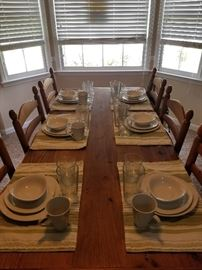Storehouse 6 place setting with extra pieces