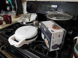 Misc Houseware:  Waffle Maker; Pizzelle Maker; Presto Deep Fryer; Mini Pancake Griddle