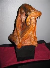 1951 leather sculpture