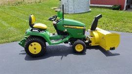 Tractor w/ Snow Blower Attachment