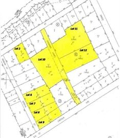 Tax Map with Lot s of all properties