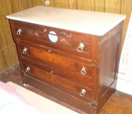 3 Drawer Chest with marble top.