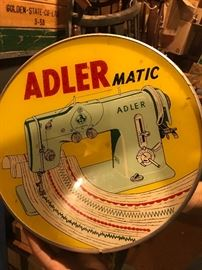 Rare Adler advertising sewing light