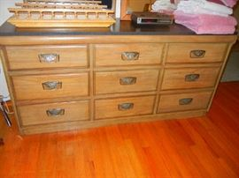 Large Dresser with matching Headboard, Upright Dresser and Mirror