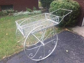 Cast Iron Flower Cart