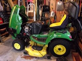 2005 John Deere X724 LOW HOURS Wide deck, Bagger, 48 inch mowing deck and much more. Details to be updated. This was purchased and maintainence provided through Reynolds Lawn & Leisure in Shawnee, KS $6000.00 cashiers check (New cost $17,000)