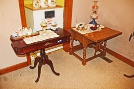 DUNCAN PHYFE TABLE and DROP LEAF TABLE