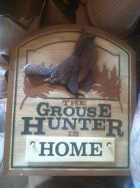 Grouse hunter sign