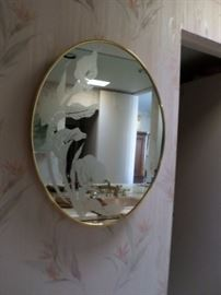 Etched Floral Mirror $65