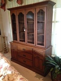This large china cabinet provides great storage.