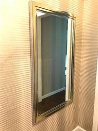 Chrome and Brass Framed Gatsby Decorative Mirror.