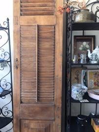 Vintage shutter doors
