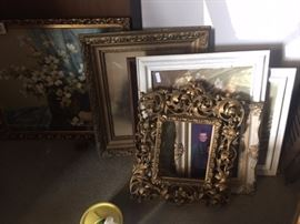 Pictures, frames, mirrors