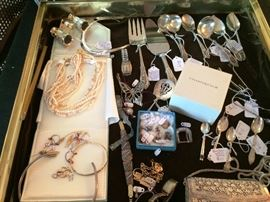 A few pieces of Jewelry,  Sterling,